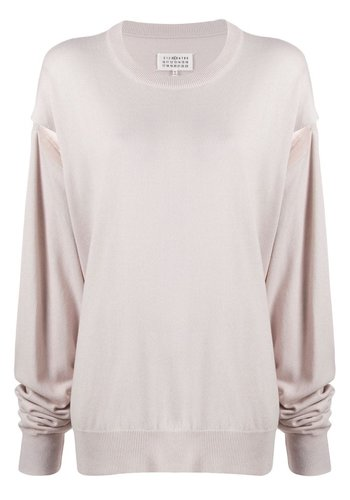 MAISON MARGIELA cut-out sweater ice white