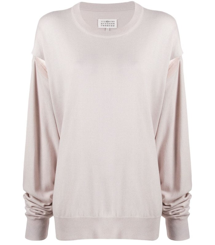 CUT-OUT SWEATER ICE WHITE