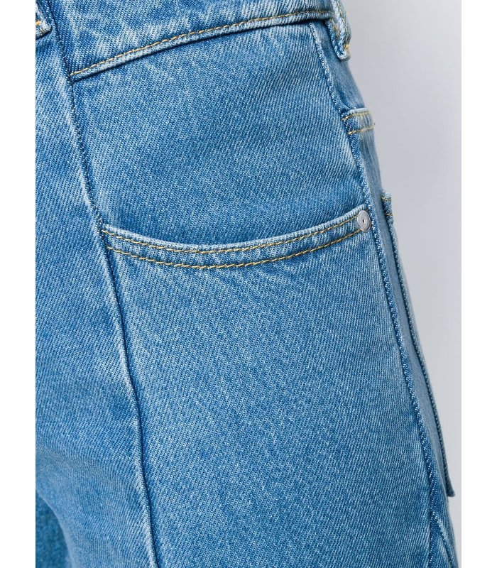 CUT-OUT JEANS STONE WASH