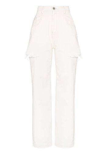 MAISON MARGIELA side cut jeans offwhite