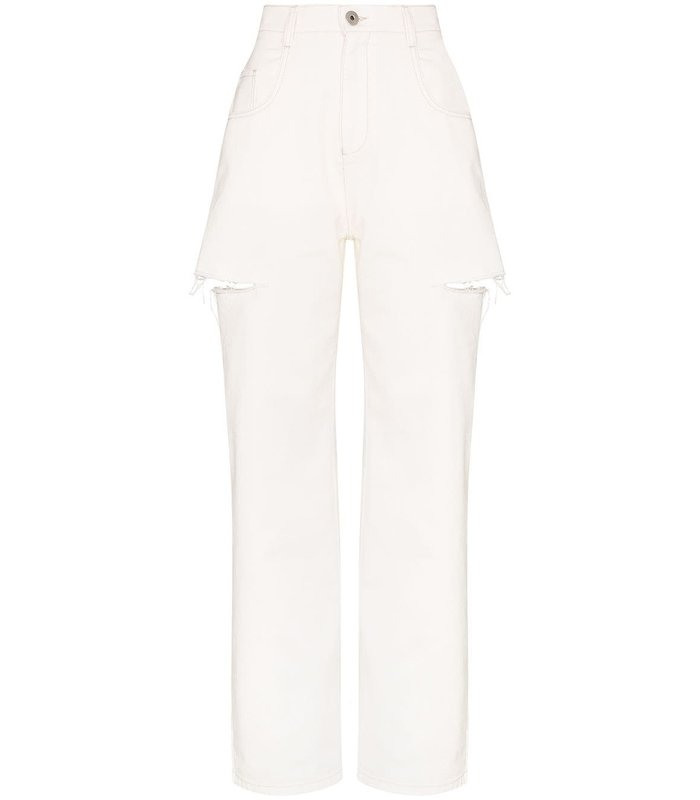 SIDE CUT JEANS OFFWHITE