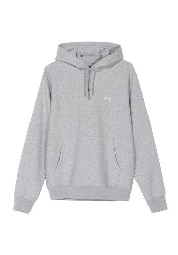 STUSSY stock logo hood heather grey