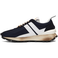 RUNNING SNEAKER IN NYLON NAPPA AND SUED SNEAKERS NAVY