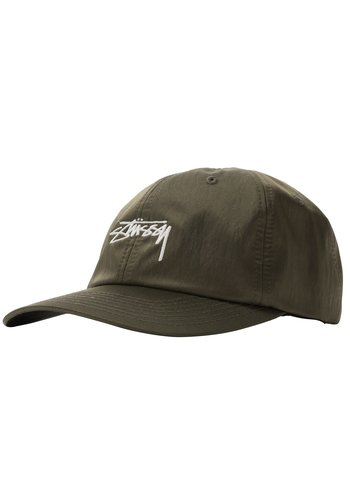 STUSSY lined nylon low pro cap green