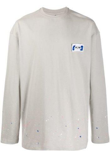ADER ERROR rivet label longsleeve tshirt grey