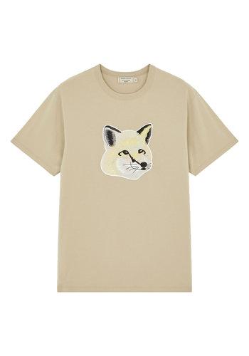 MAISON KITSUNE t-shirt pastel fox head beige