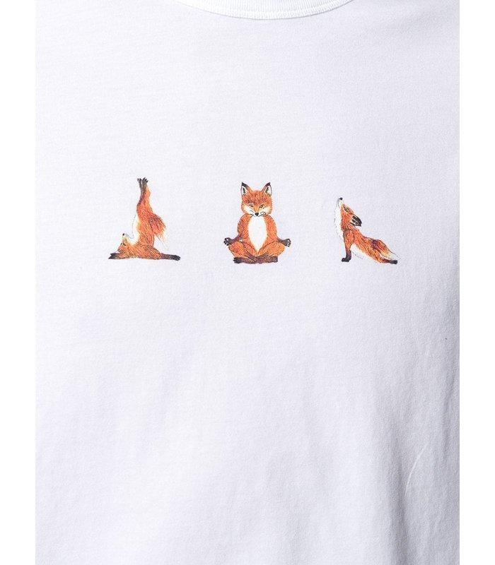 T-SHIRT YOGA FOX PRINT WHITE
