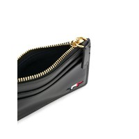 ZIPPED CARD HOLDER LEATHER BLACK