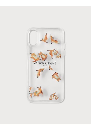 MAISON KITSUNE aqua yoga fox iphone x case