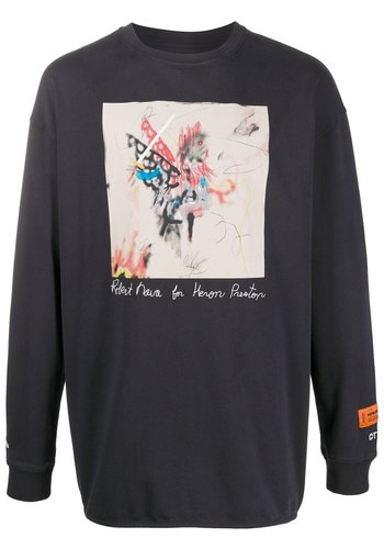 HERON PRESTON t-shirt reg ls robert nava black