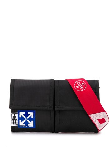 OFF-WHITE eq two pocket fannypack black