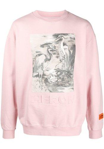 HERON PRESTON crewneck cuts heron burds pink