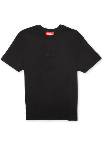 032C t-shirt with chest embroidery black