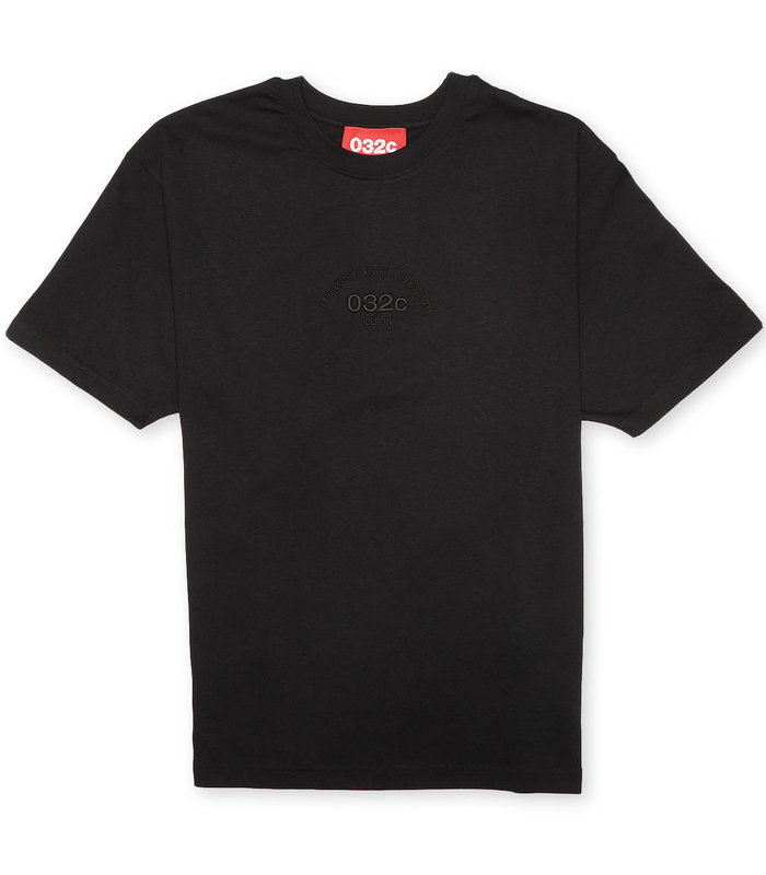 T-SHIRT WITH CHEST EMBROIDERY BLACK