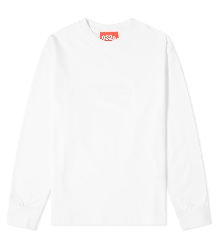 LONGSLEEVE WITH CHEST EMBROIDERY WHITE