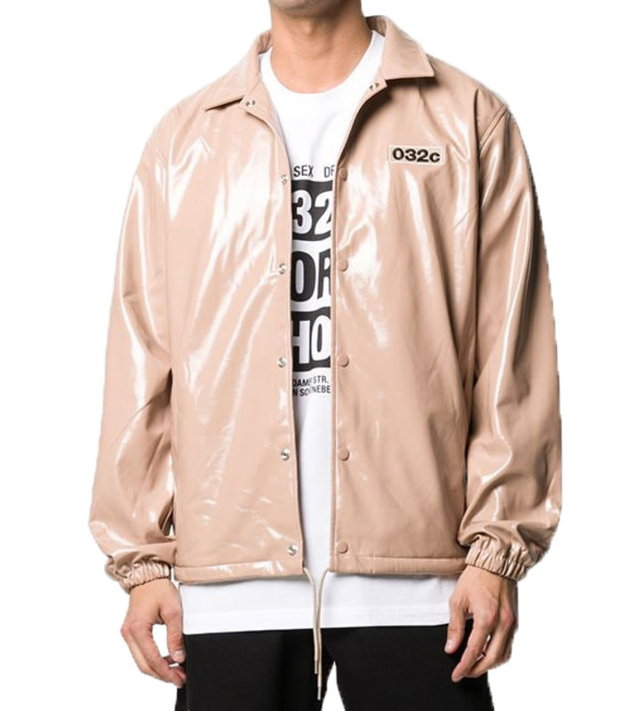 PATENT JACKET WITH PATCHES LOGO AND EMB