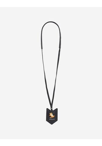 MAISON KITSUNE key holder chillax fox black