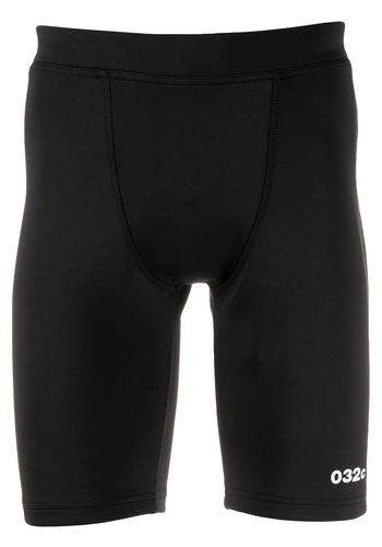 032C tight neoprene shorts with logo print black