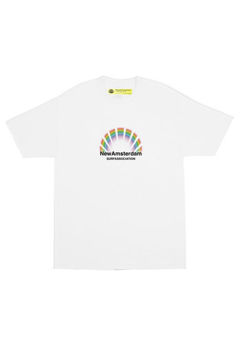 NEW AMSTERDAM SURFASSOCIATION rain tee white