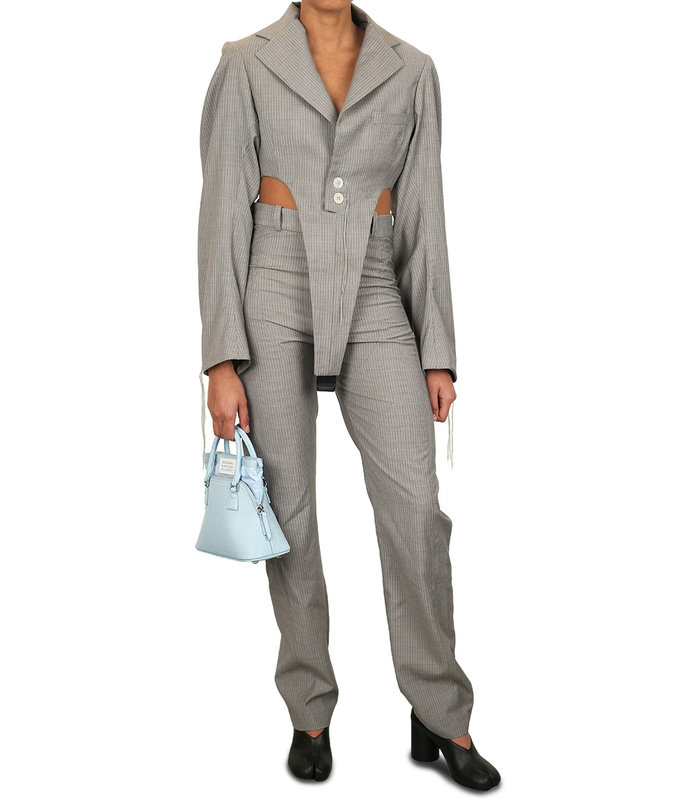 VICTORY JACKET BODY PINSTRIPE GREY