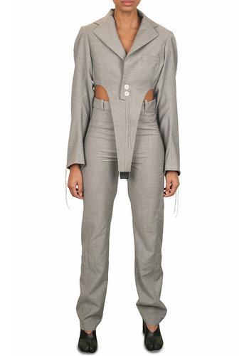 NINAMOUNAH victory jacket body pinstripe grey