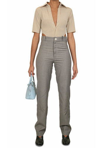 NINAMOUNAH panic trousers pinstripe grey
