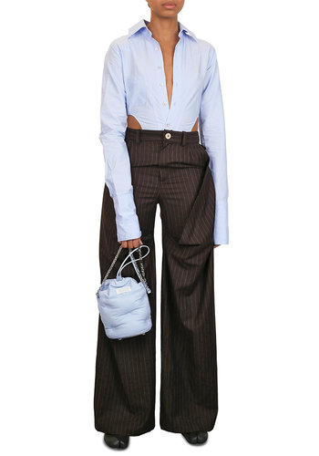 NINAMOUNAH plague trousers pinstripe brown