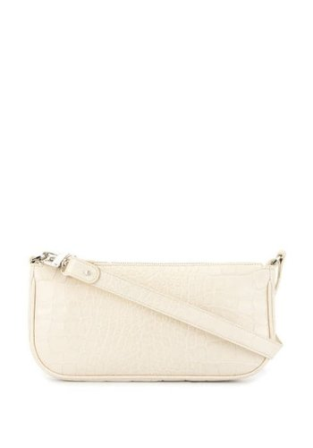 BY FAR rachel cream croco embossed leather