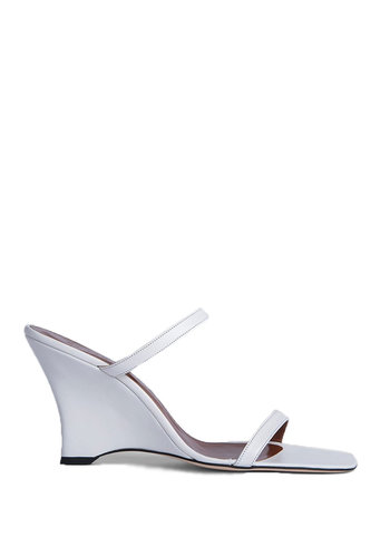BY FAR steffi white leather