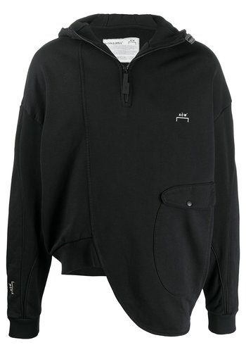 A-COLD-WALL* curve hoody black