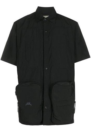A-COLD-WALL* utility pocket shirt sleevr shirt black