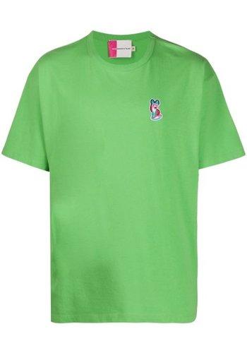 ACIDE MAISON KITSUNÉ acide patch t-shirt green