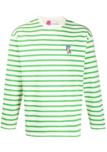 ACIDE MAISON KITSUNÉ marin tee-shirt acide patch green white