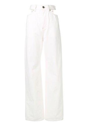 MAISON MARGIELA cut-out jeans off white