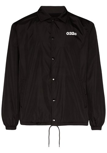032C patent jacket with logo and emb patches