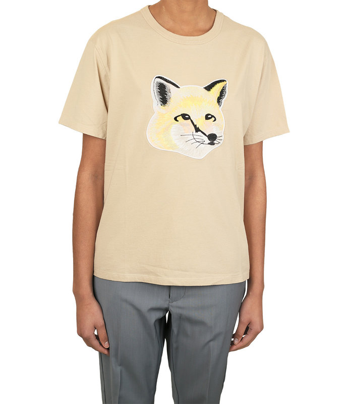 T-SHIRT PASTEL FOX HEAD BEIGE