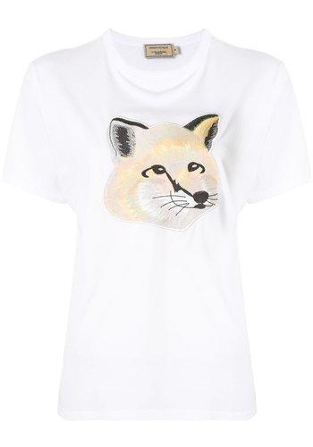 MAISON KITSUNE t-shirt pastel fox head offwhite
