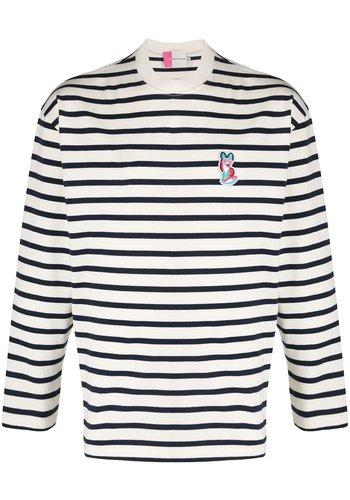 ACIDE MAISON KITSUNÉ marin t-shirt acide patch navy white