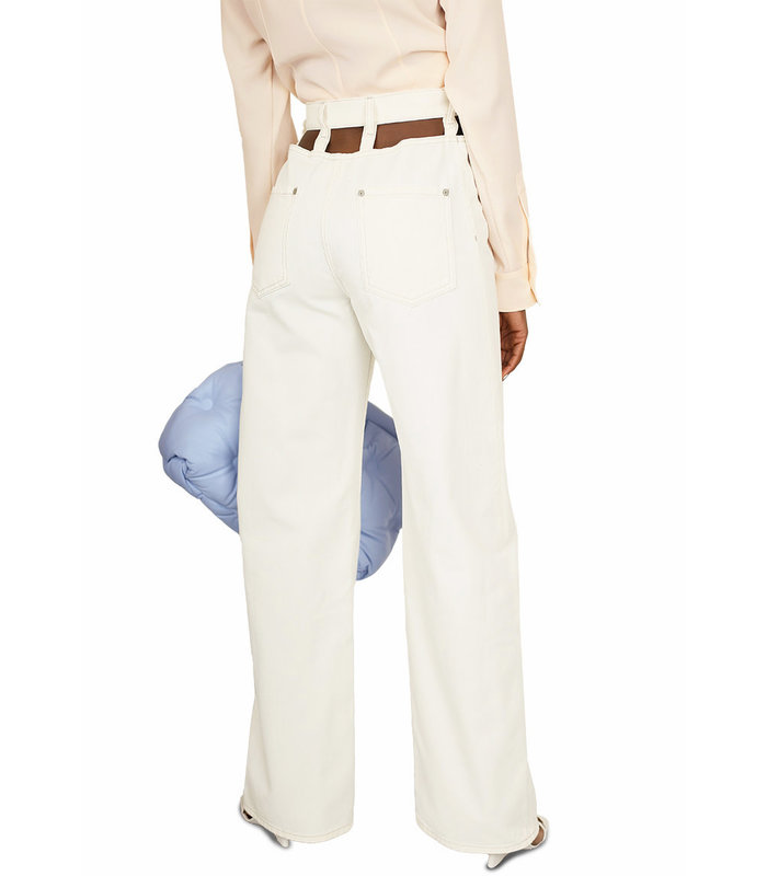 CUT-OUT JEANS OFF WHITE