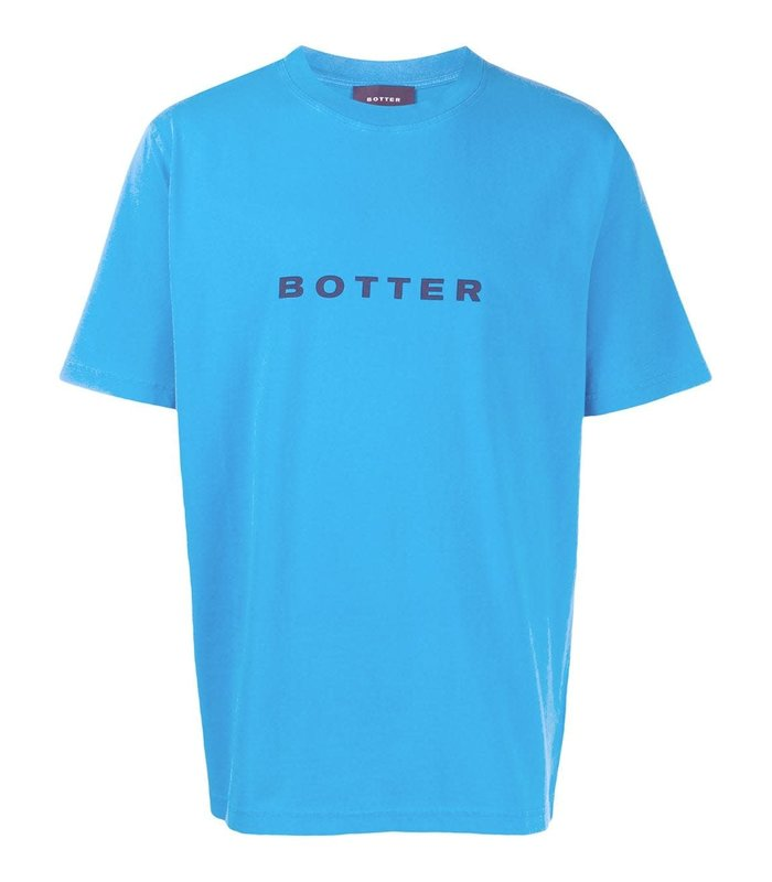 SHORT-SLEEVE BOTTER T-SHIRT BLUE PIGMENT DYE