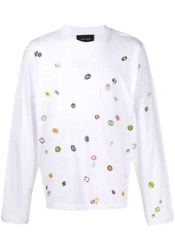 BOTTER longsleeve fruitstickers t-shirt white