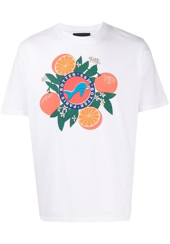 BOTTER short-sleeve orange silk screen print