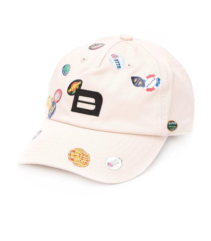 B CAP FRUITLABELS BEIGE