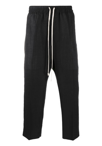 RICK OWENS woven drawstring pants black