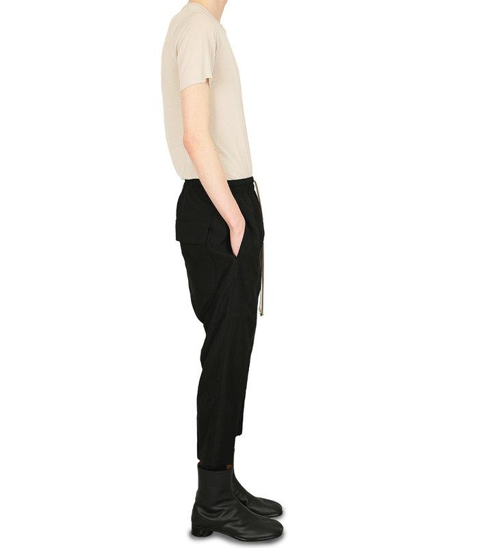 WOVEN DRAWSTRING PANTS BLACK