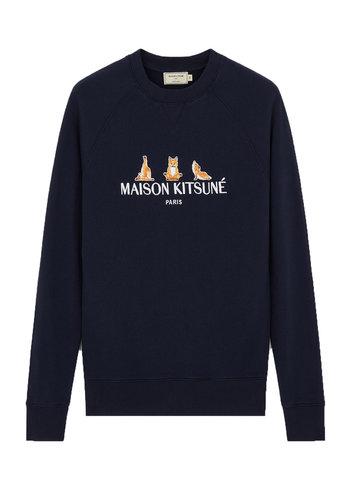MAISON KITSUNE sweatshirt 3 yoga foxes