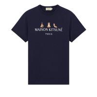 MAISON KITSUNE TEE-SHIRT 3 YOGA FOXES