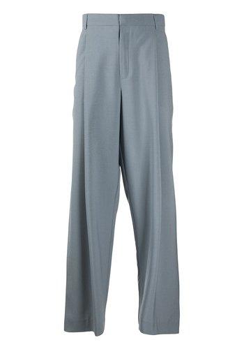 MAISON KITSUNE single pleated pants grey