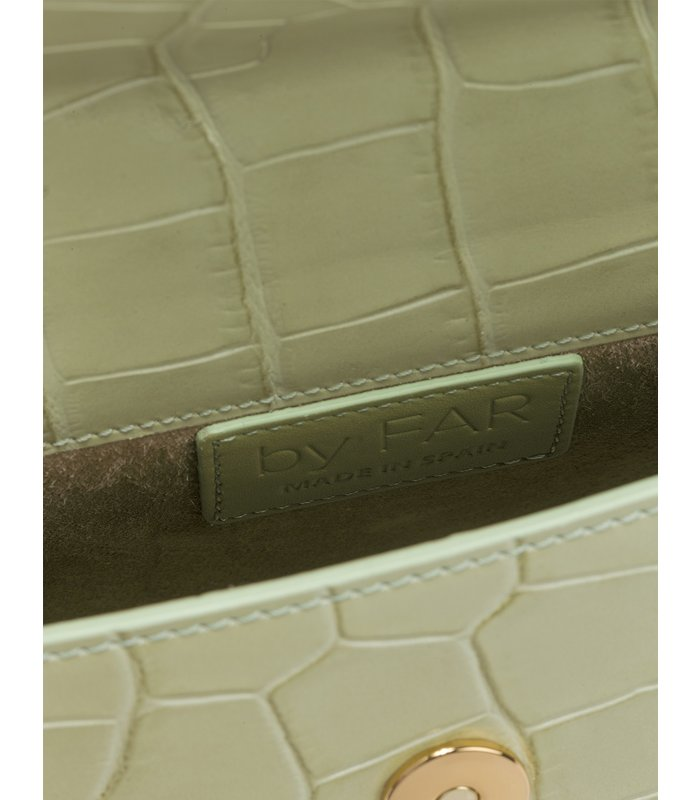 Mini Sage Green Croco Embossed Leather