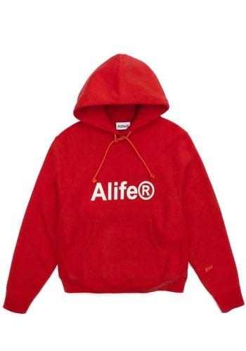 ALIFE generic logo half-zip hoodie